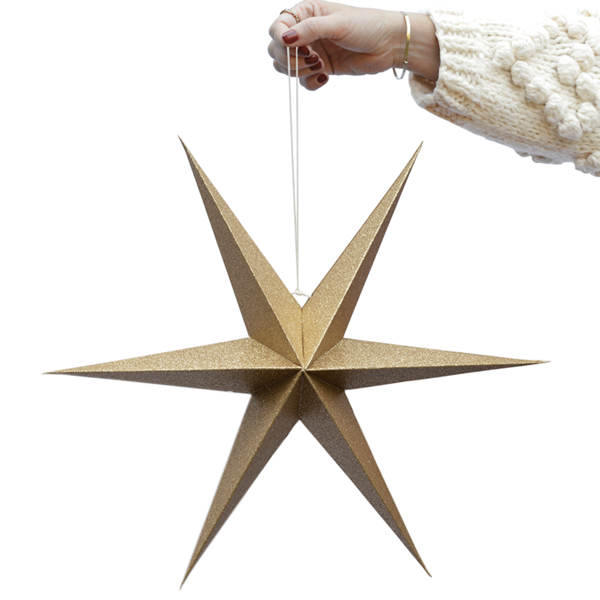 Jet at home - Delight Department papieren sterren goud glitter